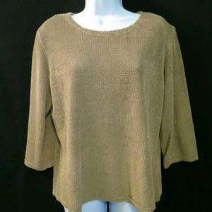 Double D Ranch Western top Loop texture knit